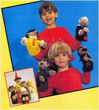 DK Crochet Pattern to Make Six Children's Glove Puppets 10116