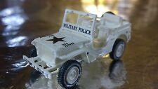 * Minitank 632 Willys Jeep 1/4 Ton 4 x 4 US Army Military Police  1:87 HO Scale