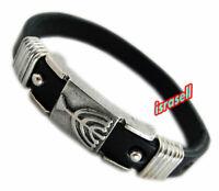 Jewish Menorah Leather Bracelet - Judaism - Judaica Gift - Hebrew