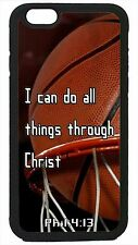 Basketball Case Cover for iPhone 4s 5 5s 5c 6 Plus Christian Jesus Bible verse