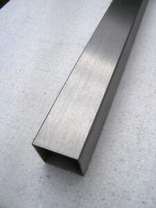 Edelstahl Vierkantrohr V2A 50 x 50 x 2 mm geschliffen K240 Längen wählbar