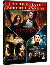 INFERNO TRILOGIA EL CODIGO DA VINCI DVD NUEVO ( SIN ABRIR ) ROBERT LANGDOM