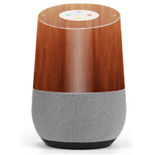 Skin Decal Vinyl Wrap for Google Home / Smooth Maple Walnut Wood