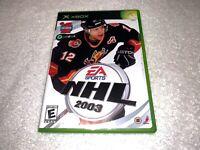 NHL 2003 (Microsoft Xbox, 2002) Game Complete LN Mint!