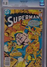 SUPERMAN #321 CGC 9.8 NM/MT MAR 1978 WHITE Pages - SUPERMANIAC - tough!