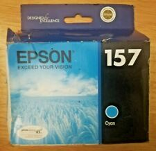 Epson 157 Cyan Ink Cartridge for Epson Stylus R3000 Exp 1/2015 Genuine Sealed