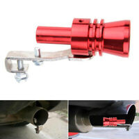 Red 12*3.5cm Turbo Sound Whistle Muffler Exhaust Pipe Blow Off Valve Simulator