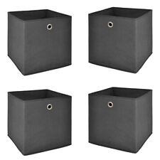 Faltbox 4er Set Faltkiste Regalkorb anthrazit Aufbewahrungsbox Raumteiler 32x32
