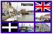 PADSTOW, CORNWALL UK - SOUVENIR NOUVEAUTÉ AIMANT DE RÉFRIGÉRATEUR / NOËL