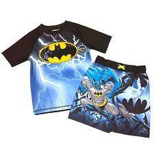 Batman 2 Piece Rashguard Shirt and Trunk Swim Set 18M NEW