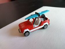 Vintage Majorette JP4 #252 Red Jeep With Surf Board 1:47 Made in France EX MINT