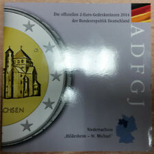 Germania 2 EURO MONETA COMMEMORATIVA 2014 A D F G J-Bassa Sassonia Hildesheim-St. Michael