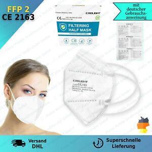 25x FFP2 Maske Mundschutz 5 Lagig ✅CE PRÜFSTELLE 2163 ✅ Händler aus Deutschland