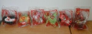 Lot Of 6 Mcdonalds Happy Meal TY Teenie Beanie Babies 30 Years Of Happiness rare