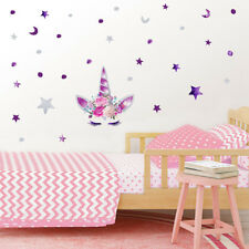 Delicate Unicorn Colorful Wall Sticker For Room Decor Horse Stars Wall Decals BR