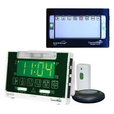 Serene Innovations CentralAlert CA-360 Alarm Clock with Remote Receiver/Doorbell