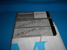 "MICROGRAFX Windows Portfolio 3 Floppy Disks Diskettes 5 1/4"" Vtg 1988 IBM"