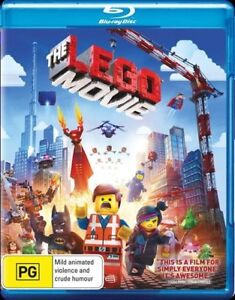 Lego Movie (Blu-ray, 2014) ex rental - NO DIGITAL ULTRAVIOLET ONLY DVD DISC