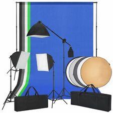 vidaXL Fotostudioset met Softbox Lampen, Achtergronden, Reflector Fotoset Foto