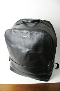 Burberry Grainy Leather Backpack Black Men