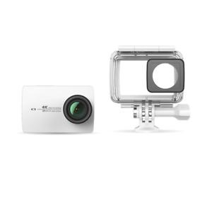 YI 4K Action Camera weiß 4K/30fps 12MP Zubehörpaket Wasserdichtes Gehäuse, Touch