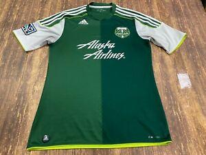 Portland Timbers Green/White Adidas MLS Soccer Jersey - Medium