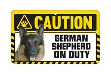 Dog Sign Caution Beware - German Shepherd - Alsatian