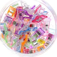 50X Bottles Colourful Wonder Clips Quilters Clips Sewing Quilting Supplies Ni S!
