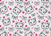 A1 | Cute Polka Dot Kitten Poster Art Print 60 x 90cm 180gsm Wall Decor #13219