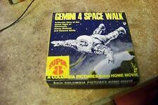 super 8 8mm gemini 4 space walk 8mm home movie reel ~ black and white