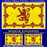 ECOSSE Royale ECOSSAIS Drapeau Sticker Autocollant 100mm x 1+2 BONUS