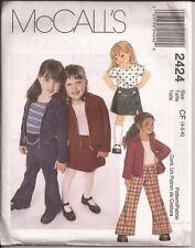 McCall's Little Girls' JACKET TOP PULL-ON PANTS SKIRT Pattern...2424..UNCUT..OOP