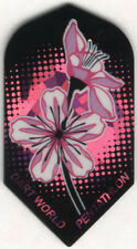 Purple Passion Flowers Slim Dart Flights: 3 per set