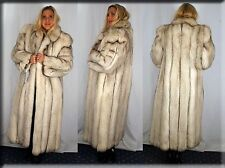 New Blue Fox Fur Coat Size Medium 6 8 M Efurs4less