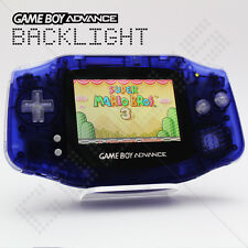 Purple Backlit Screen Nintendo Game Boy Advance GBA AGS-101 Backlight Console