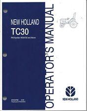 NEW HOLLAND TC30 TRACTOR OPERATOR MANUAL 87544702