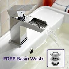 QUINTIN WATERFALL BASIN SINK CLOAKROOM MONO MIXER BATHROOM TAP FREE WASTE