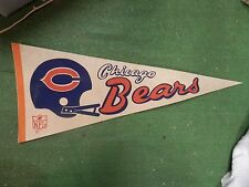 Vintage CHICAGO BEARS Football pennant banner NFL 1970S-80S