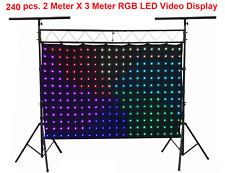 240 pcs Stage LED Video Curtain Screen DJ Backdrop DMX Controller Backdrop 2mX3m