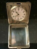 Beautiful Antique Tiffany & Co. Sterling Silver 8 Day Travel Clock Works, MB148