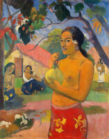 Where Are You Going Paul Gauguin Wall Art Print on Canvas Giclee Painting Small