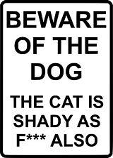 Beware Of The Dog Car Window Van JDM VW VAG EURO Vinyl Decal Sticker Skate