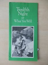 August 1975 - Stratford Theatre Playbill w/Ticket - Twelfth Night - John Innes