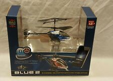 NEW IN BOX BLUE 2 PILOT BRAND 3-CHANNEL HELICOPTER WITH GYRO STABILIZATION