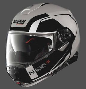 Nolan N100-5 Flip up Helmet Consistency N-Com Motorcycle Helmet - Flat Silver 21