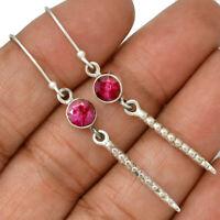Ruby - India 925 Sterling Silver Earrings Jewelry AE103302 107N