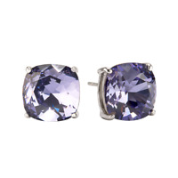 Origami Owl Swarvorski Tanzanite Clara Stud Earrings