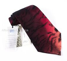 ROBERTO CAVALLI New Cravatta Silk Tie Red Black Animal Print Ombre Cravatte $135