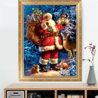 5D Santa Claus Diamond Paintings Embroidery Christmas Cross Stitch DIY Kit