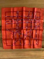 HERMES Bolduc Ribbon SILK SCARF by Dumas GRAIL Modern Wall Decor 42cm x 42cm F/S